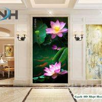 Gạch tranh 3D hoa sen MHS01