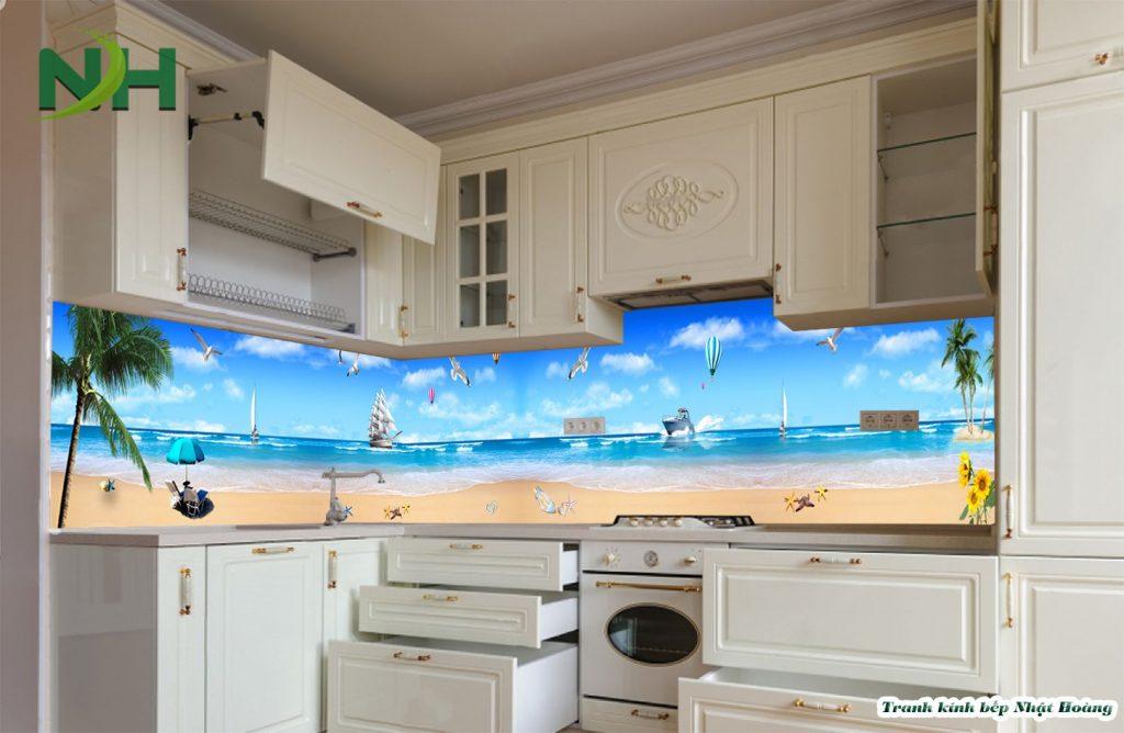 Tranh kính bếp 5d