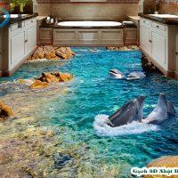 Nền gạch 3D đại dươnglà sản phẩm mô tả vẻ đẹp của nước biển