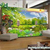 gạch 5D dán tường phong cảnh