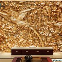 Gạch 3D ốp tường mẫu Công Hạc
