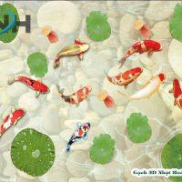 Gạch lát nền 3D hồ cá