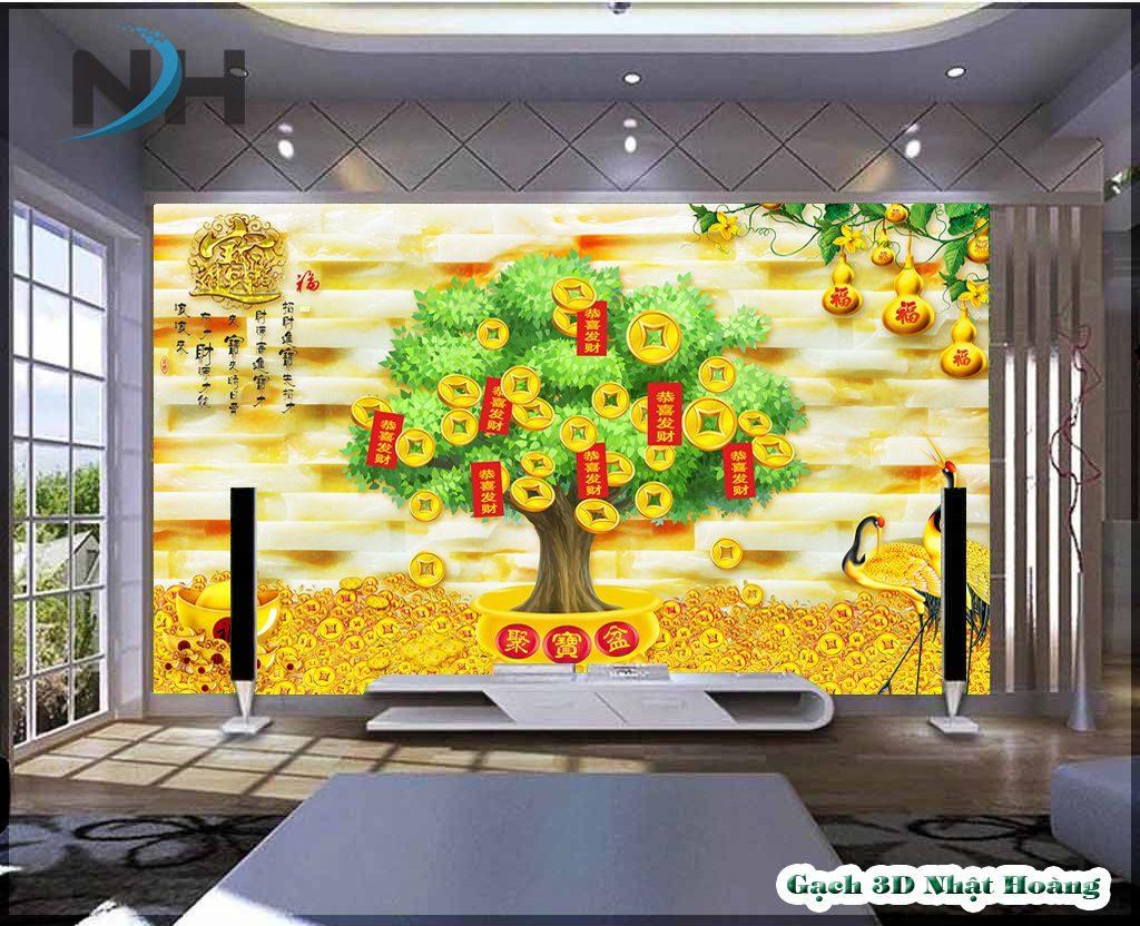 tranh gạch 3D Kim tiền