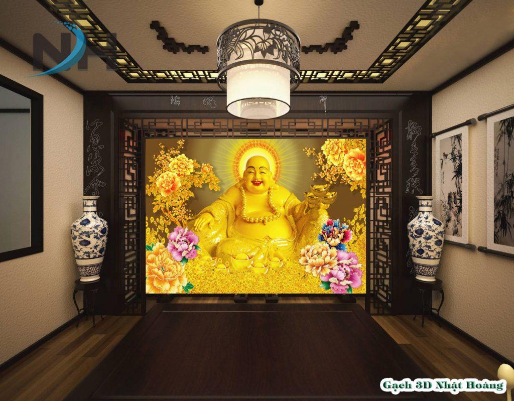 Tranh gạch 5D Phật Di Lặc