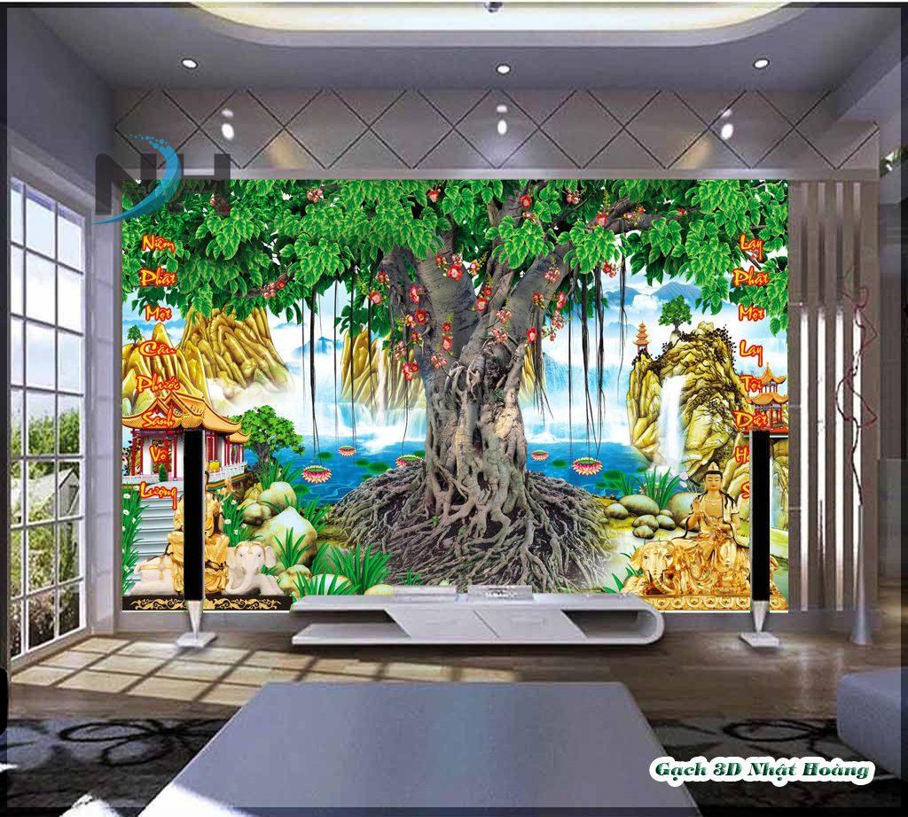Gạch đá 5D nhà mồ hình ảnh cây bồ đề