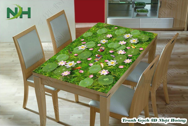 tranh mặt bàn 5D phòng ăn