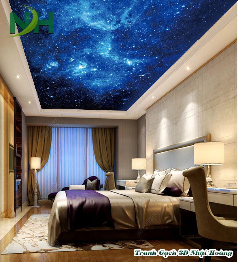 Trần sáng 5D bầu trời đầy sao
